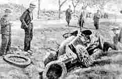 Обломки автомобиля Марселя Рено (Париж - Мадрид, 1903 год